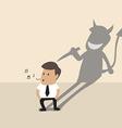Businessman with his devil shadow vector image vector image