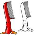cartoon comb vector image vector image