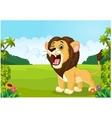 Cartoon lion roaring vector image vector image