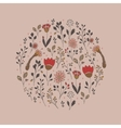 Circle floral pattern vector image