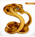 cobra snake cartoon character funny animal 3d icon vector image vector image