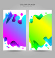 colorful liquid splash background template vector image