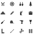 Construction and repair icons set vector image