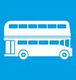 double decker bus icon white vector image