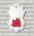 Elegant card with red rose for Valentine Day vector image vector image