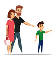 family flat characters vector image vector image