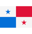 Flag of the Panama vector image vector image