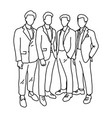 four male businesspeople standing together vector image