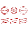 Fragile stamps vector image
