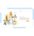 group people preparing spaceship rocket vector image vector image