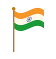 happy independence day india flag in pole