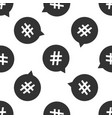hashtag in circle icon seamless pattern vector image vector image