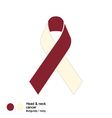 head and neck cancer ribbon vector image vector image