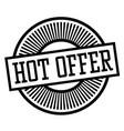 hot offer stamp vector image