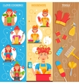 Housewife Vertical Banners vector image