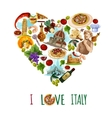 Italy Touristic Poster vector image