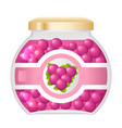 jelly marmalade sweet jam dessert natural healthy vector image