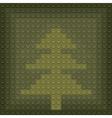 lego christmas tree vector image vector image