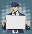limousine driver holding sign vector image vector image