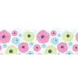 Lovely flowers horizontal seamless pattern vector image vector image