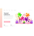 mindfulness landing page template vector image vector image