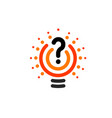 new question mark symbol flat bright cartoon bulb vector image