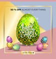 poster for happy easter 14 vector image vector image