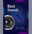 realistic audio equipment poster vector image
