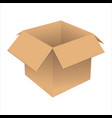 realistic cardboard box vector image