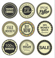 retro vintage badges collection vector image vector image