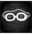Safety Glasses Drawing on Chalk Board vector image vector image