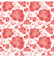 salmon pink and yellow decorative roses vector image