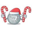 santa with candy dash coin character cartoon vector image vector image