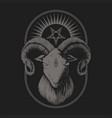 satanic goat vector image vector image