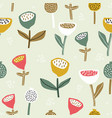 seamless pattern with flowers inscandinavian style vector image