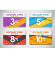 Set of discoun cards vector image vector image