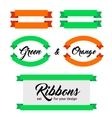 set ribbons and banners flat style vector image