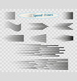 set simple horizontal lines speed movement vector image