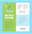 shopping business company poster template with vector image