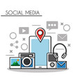 social media networks vector image vector image