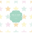 Stars textile textured pastel frame seamless vector image