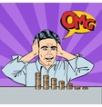 Stressed Businessman with his Last Money Pop Art vector image