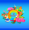 summer sale banner design with colorful bea vector image vector image