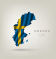 Swedish flag as a country vector image vector image