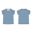 t-shirt in blue stripes fabric isolated on white vector image vector image