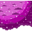 The night sky in cartoon style vector image vector image