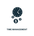 time management creative icon simple element vector image vector image