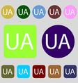 Ukraine sign icon symbol UA navigation 12 colored vector image vector image