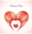Valentine day card template with heart vector image vector image