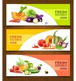 Vegetables And Fruits Horizontal Banners vector image vector image